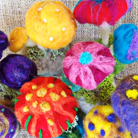 felted mushrooms by boridolls